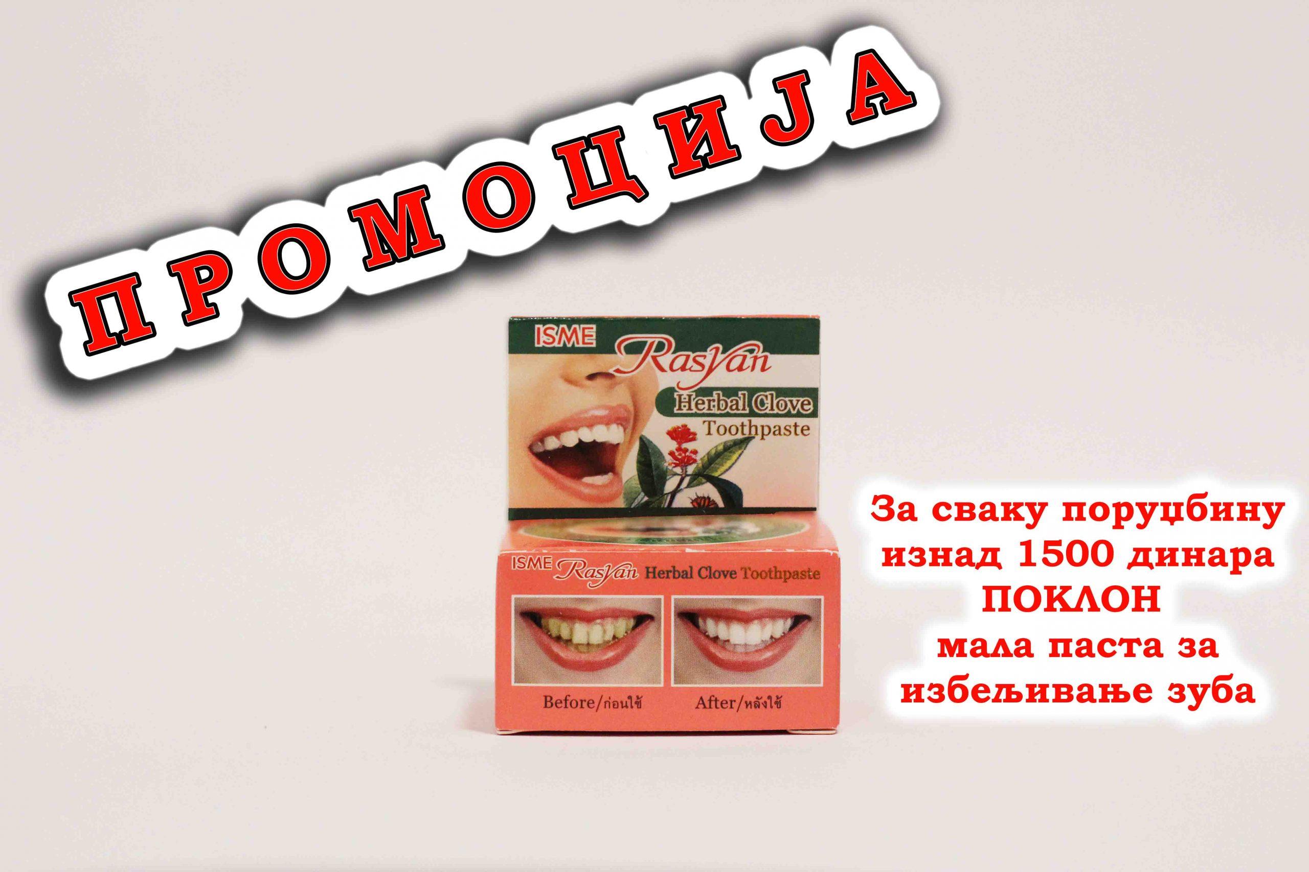 promocija, akcija, gratis pasta za izbeljivanje zuba